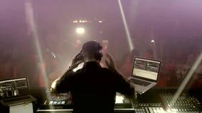 Bordo DJ del DJ stock footage