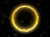 Bordo dorato del cerchio Immagini Stock Libere da Diritti