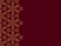 Bordo dorato del fiocco di neve Fotografia Stock