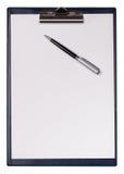 Bordo e penna di clip Fotografia Stock