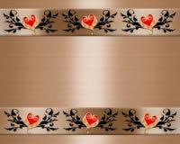 Bordo elegante dell'invito di cerimonia nuziale Immagini Stock
