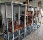 Bordo elettrico di alto potere con le barre di rame Fotografie Stock