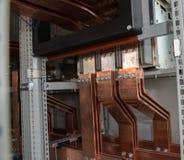 Bordo elettrico di alto potere con le barre di rame Immagine Stock