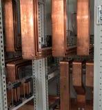 Bordo elettrico di alto potere con le barre di rame Fotografie Stock Libere da Diritti