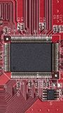 Bordo elettronico - componenti di hardware fotografie stock libere da diritti