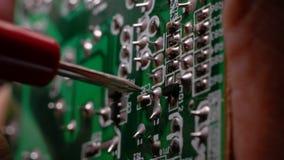 Bordo elettronico?del circuit? stock footage