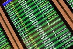 Bordo europeo di partenza di volo Immagini Stock