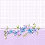 Bordo floreale illustrazione vettoriale