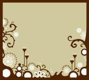 Bordo floreale bianco Fotografia Stock