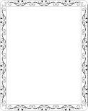 Bordo floreale in bianco del blocco per grafici Fotografia Stock