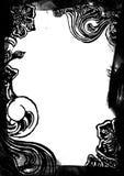 Bordo floreale in bianco e nero illustrazione di stock