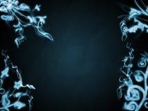 Bordo floreale blu fotografie stock libere da diritti