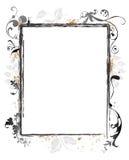 Bordo floreale del blocco per grafici di Swirly Grunge Fotografia Stock Libera da Diritti