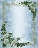 Bordo floreale dell'edera dell'invito di cerimonia nuziale Immagini Stock Libere da Diritti