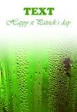 Bordo fortunato verde della priorità bassa della birra Fotografia Stock