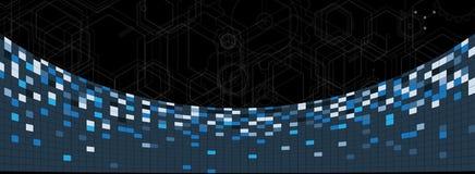 Bordo futuristico astratto b di tecnologia di Internet del computer del circuito Immagini Stock