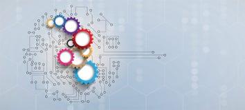 Bordo futuristico astratto b di tecnologia di Internet del computer del circuito illustrazione vettoriale