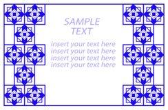 Bordo geometrico blu, Copia-spazio Fotografia Stock Libera da Diritti