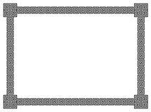 Bordo geometrico dei rotoli Fotografie Stock