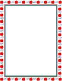 Bordo illustrato della mela Immagine Stock