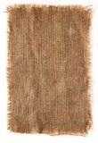 Bordo lacerato tela di canapa della tela da imballaggio Fotografie Stock Libere da Diritti