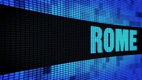 Bordo laterale del segno dell'esposizione di pannello della parete di scorrimento LED del testo di ROMA stock footage