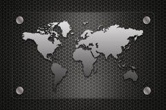 Bordo modellato del segno della mappa di mondo Immagini Stock