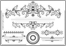 Bordo nero dell'ornamento su una priorità bassa bianca Immagini Stock