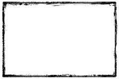 Bordo nero dettagliato del grunge del blocco per grafici illustrazione vettoriale