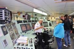 A bordo nos quebra-gelo em Luleå imagem de stock