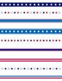 Bordo patriottico del divisore Fotografia Stock