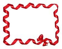 Bordo rosso dei nastri dell'arco Fotografia Stock Libera da Diritti