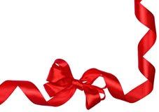 Bordo rosso dei nastri dell'arco Fotografie Stock Libere da Diritti