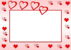 Bordo rosso del cuore Immagini Stock
