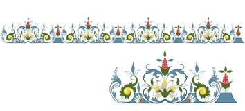 Bordo senza giunte con l'elemento isolato royalty illustrazione gratis