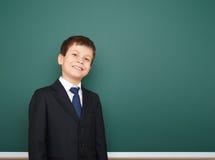 Bordo vicino del ritratto del ragazzo di scuola Fotografie Stock Libere da Diritti