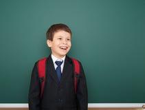 Bordo vicino del ritratto del ragazzo di scuola Fotografie Stock