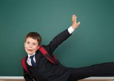 Bordo vicino del ritratto del ragazzo di scuola Fotografia Stock Libera da Diritti