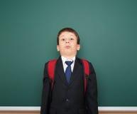 Bordo vicino del ritratto del ragazzo di scuola Immagine Stock