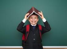 Bordo vicino del ritratto del ragazzo di scuola Fotografia Stock