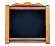 Bordo vuoto del menu con la struttura di legno Fotografia Stock Libera da Diritti