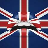 Bordos da beleza com composição da bandeira de Reino Unido ilustração do vetor