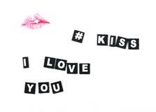 Bordos do beijo Foto de Stock