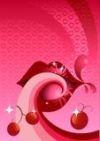 Bordos do sabor da cereja Fotografia de Stock