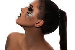 Bordos e olhos pretos da forma Fotos de Stock Royalty Free