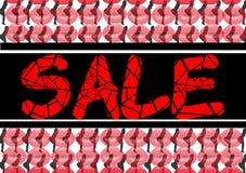 Bordos e Valentine Woman vermelhos da venda Foto de Stock Royalty Free