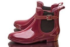 Bordoscy gumowi buty Fotografia Stock