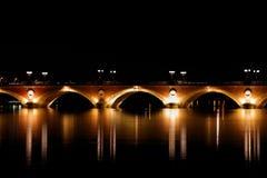 bordowie przerzucają most De Pierre pont kamień obraz stock