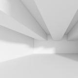Bords blancs du résumé shapes Construction de bâtiments futuriste Image libre de droits