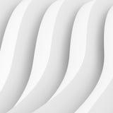 Bords blancs du résumé shapes Construction de bâtiments futuriste Images libres de droits